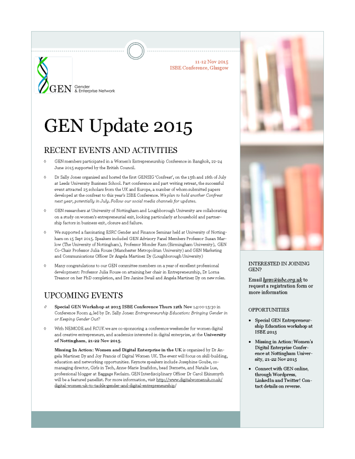 GEN Newsletter